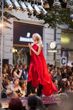 Het Weekend van de Manier van Praag op 24 September, 2011 in PR Royalty-vrije Stock Afbeelding