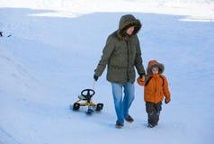 Het weekend van de winter royalty-vrije stock foto's