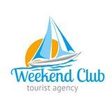 Het weekend van het de toeristenagentschap van de embleem logotype reis Stock Fotografie