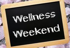 Het weekend van Wellness in krijt Stock Foto