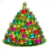 Het weelderige beeld van de Kerstboom Stock Fotografie