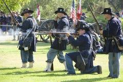 Het Weer invoeren 23 van de Burgeroorlog - het Geweervuur van de Unie Stock Afbeeldingen