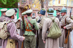 Het weer invoeren de bewapende acties van het Tsjechoslowaakse Legioen in Royalty-vrije Stock Foto's
