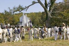 Het weer invoeren van de belegering van Yorktown Royalty-vrije Stock Afbeeldingen