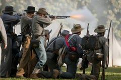 Het Weer invoeren van de Burgeroorlog Stock Afbeeldingen