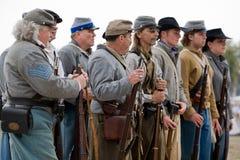 Het Weer invoeren van de Burgeroorlog Royalty-vrije Stock Foto's