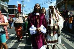 Het weer invoeren van de dood van Jesus Christ Royalty-vrije Stock Foto