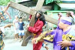 Het weer invoeren van de dood van Jesus Christ Stock Foto's