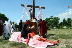 Het weer invoeren van de Hartstocht van Christus Stock Foto