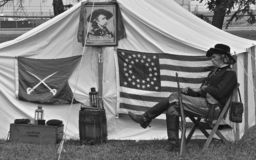 Het weer invoeren van George Armstrong Custer stock fotografie