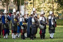 Het weer invoeren van slag voor Pressburg in Bratislava, Slowakije op 30 September, 2017 Royalty-vrije Stock Afbeelding