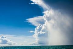 Het weer in Tropes verandert zeer snel stock foto's