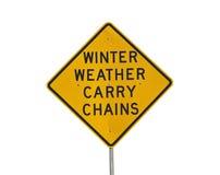 Het Weer van de winter draagt Kettingen Stock Fotografie