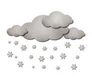 Het Weer van de wolk en van de sneeuw Stock Foto