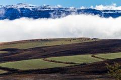 Het Weer van het landschap stelt Groen Wit Zwart Blauw tegenover elkaar Royalty-vrije Stock Fotografie
