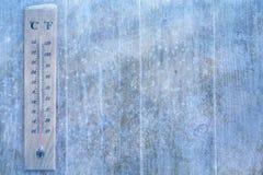 Het weerachtergrond van de kunstwinter Stock Fotografie