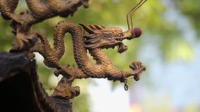 Het Weergeven van draak accessorize in wierookvat, China stock footage