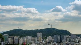 Het Weergeven van Namsan-Toren in Seoel, Zuid-Korea stock video
