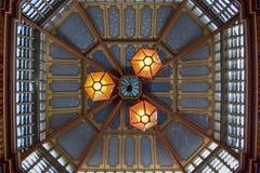 Het Weergeven van het het Plafondclose-up van de Leadenhallmarkt in Londen, Engeland royalty-vrije stock afbeelding