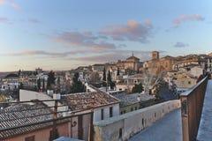 Het Weergeven van stadsscape van Toledo, Spanje royalty-vrije stock foto's
