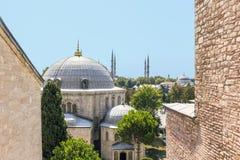 Het Weergeven van het venster van St Sophia Cathedral bouwde tijdens de Byzantijnse beschaving royalty-vrije stock fotografie