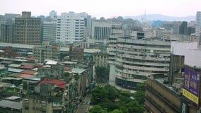 Het Weergeven van het vogelsoog van Gebouwen in de Stad van Taipeh stock videobeelden