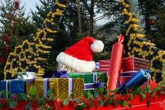 Het weggaan van de kerstman Stock Afbeelding