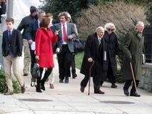 Het weggaan van de Nationale Kathedraal in Washington DC stock foto's