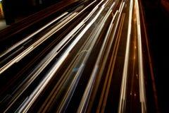 Het wegschieten van koplampen Royalty-vrije Stock Foto's