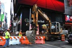 Het wegwerk de Bouw in van Manhattan, New York City Road stock fotografie