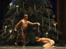 Het weiden Slangdans het het suikergoedkoninkrijk van het tweede handelings tweede gebied - de Balletnotekraker Royalty-vrije Stock Foto's