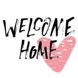 Het welkom huishand van letters voorzien Stock Foto's