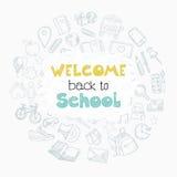Het welkom school van letters voorzien Royalty-vrije Stock Foto