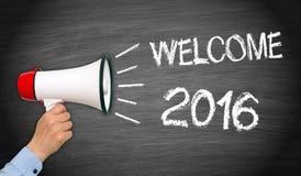 Het welkom teken van 2016 Stock Afbeelding