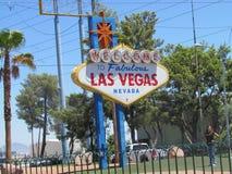 Het welkom teken van Las Vegas Royalty-vrije Stock Afbeelding