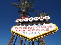 Het Welkome Teken van de binnenstad van Las Vegas stock foto