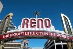 Het welkome teken van Reno Stock Afbeelding