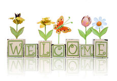 Het Welkome Teken van Themed van de tuin Stock Afbeelding