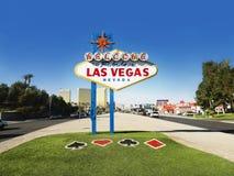 Het Welkome Teken van Vegas van Las Stock Afbeelding