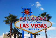Het welkome teken van Vegas van Las stock fotografie