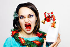 Het wensen van bloedige Kerstmis Stock Afbeelding