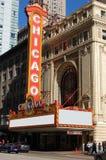 Het wereldberoemde Teken van het Theater van Chicago van het Oriëntatiepunt Stock Afbeelding