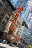 Het wereldberoemde Theater van Chicago van het Oriëntatiepunt Stock Foto