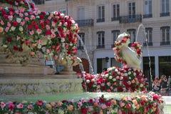 Het Wereldfestival van Rozen in Lyon Royalty-vrije Stock Afbeeldingen