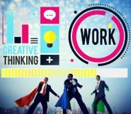 Het werk die Job Career Business Collaboration Concept werken Stock Afbeeldingen