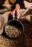 Het werk en het binnenland van de koffiewinkel royalty-vrije stock afbeeldingen