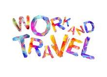Het werk en reis Driehoekige brieven Stock Afbeeldingen