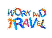 Het werk en reis Plonsverf Stock Foto