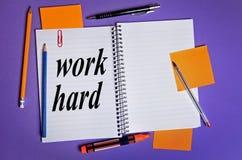 Het werk hard woord Stock Fotografie
