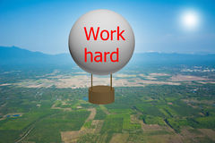 Het werk harde ballon stock afbeeldingen